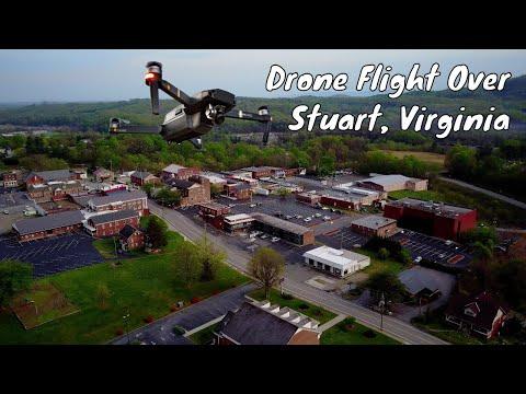 Quick drone flight over Stuart, Virginia