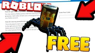 NEW FREE ITEM IN ROBLOX SPIDERCOLA FOR EVERYONE