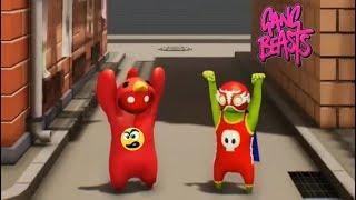 Gang Beasts 2 players - LUTA ENGRAÇADA EM VÁRIOS LUGARES [ Relembrando uma LIVE ] Caraca Games