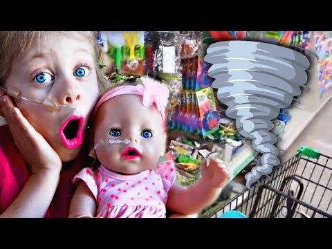 Baby Born Kate Meets a NEW Friend with a FEEDING TUBE!! 1st Playdate Disaster