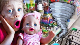 😱Baby Born Kate Meets a NEW Friend with a FEEDING TUBE!! 🌪1st Playdate Disaster‼️