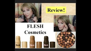 FLESH BEAUTY Cosmetics REVIEW & Demo! Foundation 50+ 60+ 70+