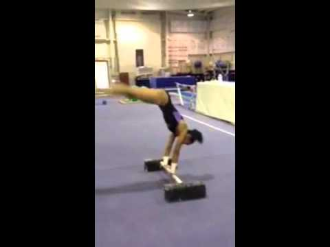 straddle cast handstand drill  youtube