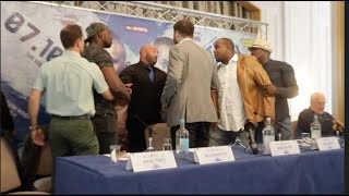LETS DO IT NOW!!! DILLIAN WHYTE & IAN LEWISON PULLED APART DURING PRESS CONFERENCE / WHYTE v LEWISON