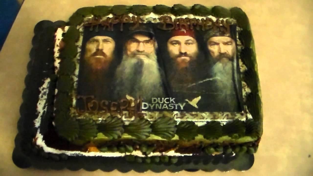 A Duck Dynasty Birthday Cake YouTube