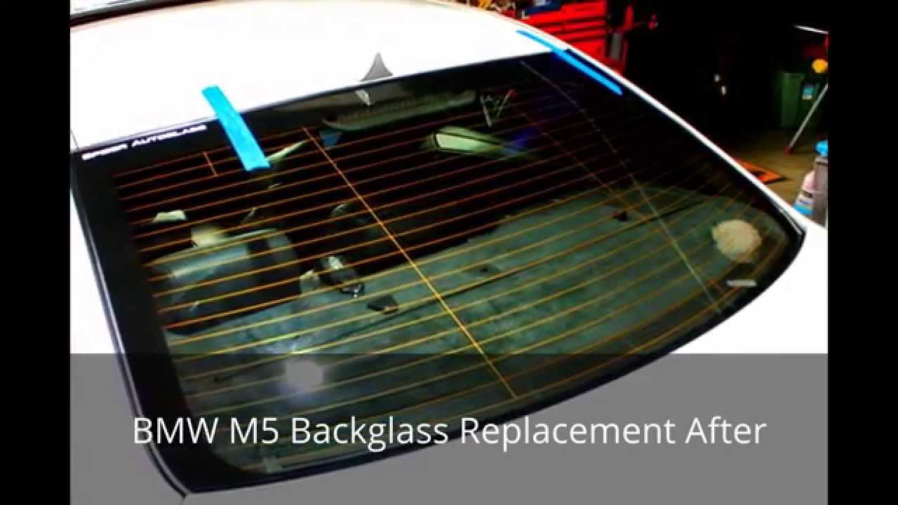 BMW M5  Audi A5 Windshield and Backglass Replacement Over Spider