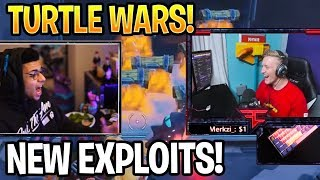 Tfue & Myth Practice Exploits In NEW Turtle Wars Mini Game! Fortnite Batte Royale Moments