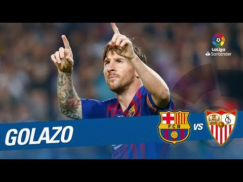 Golazo de Leo Messi (2-0) FC Barcelona vs Sevilla FC