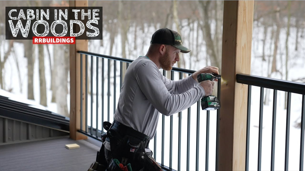 Cabin in the Woods:  Installing Aluminum Porch Railing on Deck