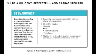28 - SECTION 3.1: BE A DILIGENT, RESPECTFUL, AND CARING STEWARD (STANDARD)