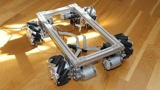 Mecanum wheel robot base - track stability test