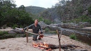 Solo overnight bushcraft camping trip to a wild Australian river