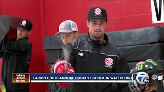 Dylan Larkin grows as a coach at his annual hockey school in Waterford