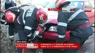Pompierii distrug o masina crezand ca e un incendiu ! FOARTE TARE !