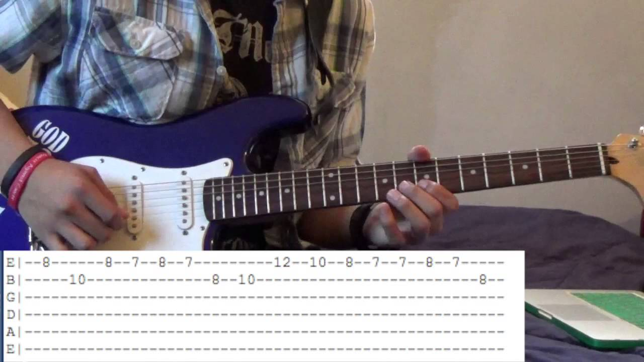 How To Play Green Hill Zone Theme On Guitar With Tabs Youtube