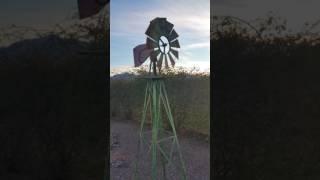 My scrap metal windmill