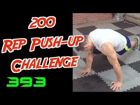 200 Rep Push-up Challenge and Core Finisher