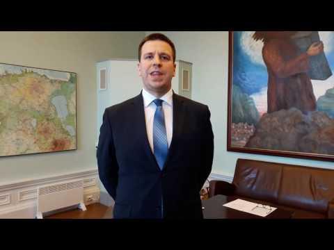 Tervitus meie austatud peaministrilt Jüri Ratas´elt