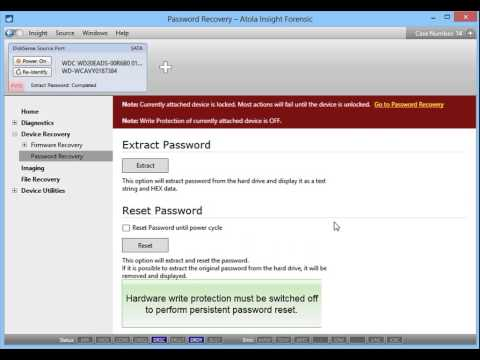 HDD Password Removal in Atola Insight Forensic 4 0 - YouTube