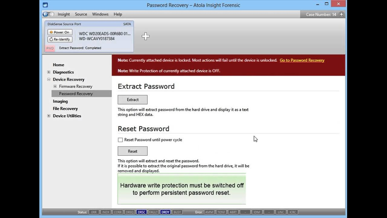 HDD Password Removal in Atola Insight Forensic 4 0