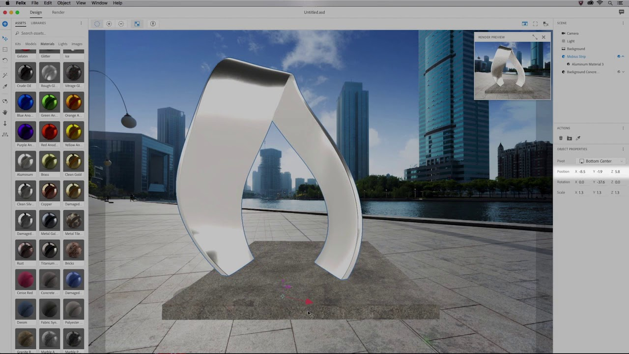 Adobe Dimension CC 3d design