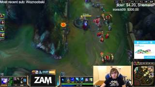 Irelia Carries U hears what Sneaky says on stream and gets mad - League of Legends thumbnail