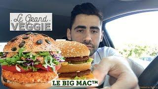 BURGER VEGGIE - BIG MAC - MEGA DEGUSTATION MCDONALD'S