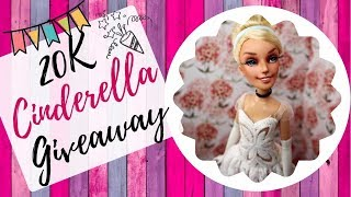 Doll Giveaway - Cinderella Disney Princess Repaint / Win OOAK Barbie for Free!