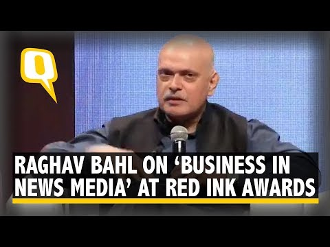 Raghav Bahl Discusses 'Business in News Media' at Red Ink Awards | The Quint