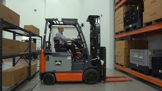 Toyota Material Handling | Forklift Safety: Warehouse Forklifts & Aisle Widths