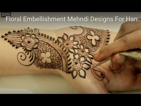simple modern mehndi designs for girls