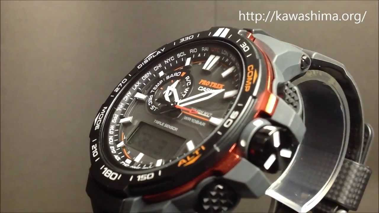 a2eff4418e CASIO PRO TOREK wristwatch (カシオ腕時計プロトレック)ソーラー電波 PRW-6000Y-1JF - YouTube