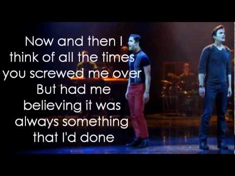 Glee - Somebody I Used To Know