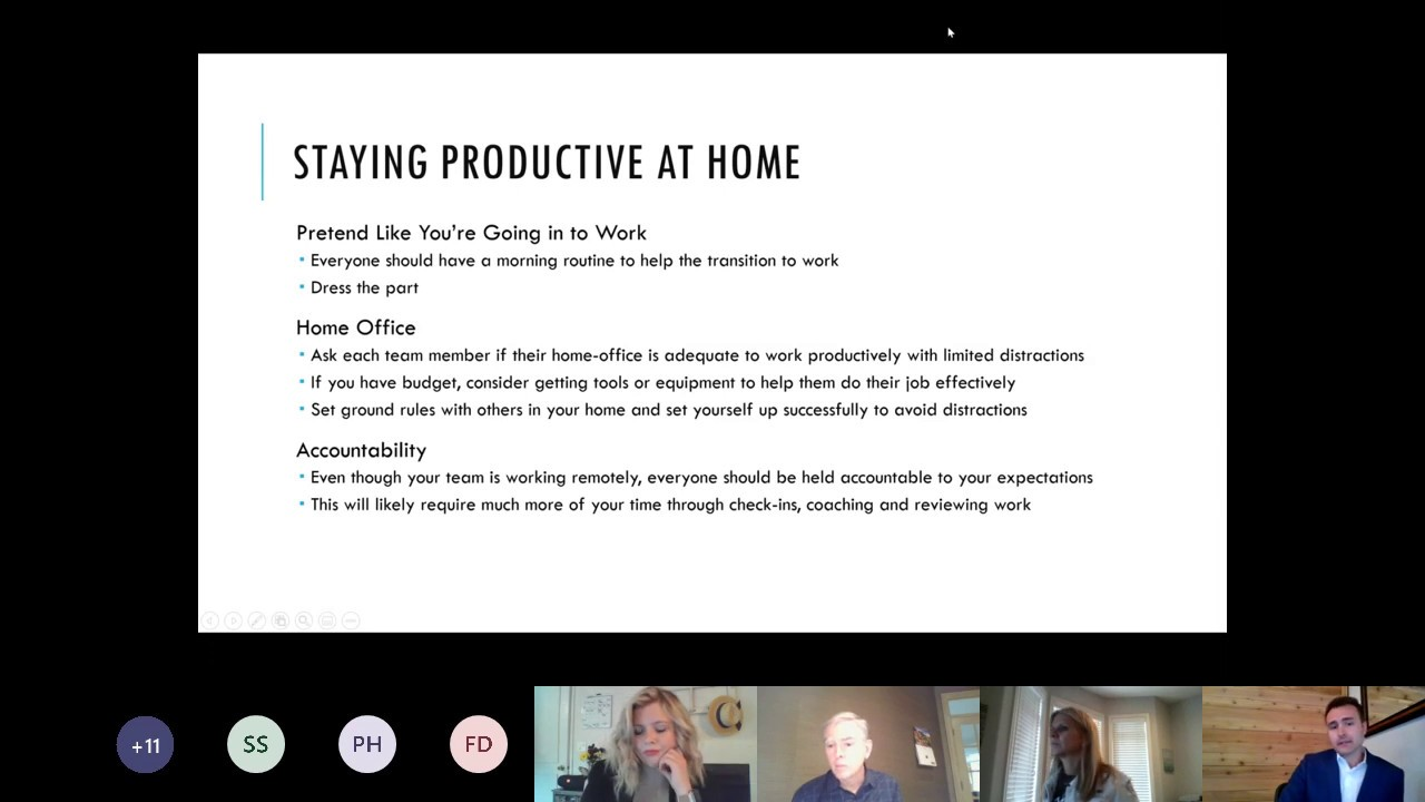 ProFocus Virtual Lunch - Managing Remote Teams during COVID 19