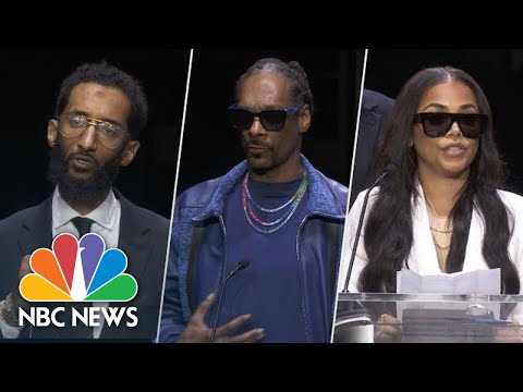 Watch Highlights From Nipsey Hussle's 'Celebration Of Life' Funeral Service | NBC News Mp3