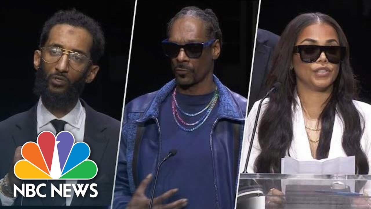 Watch Highlights From Nipsey Hussle's 'Celebration Of Life' Funeral Service | NBC News