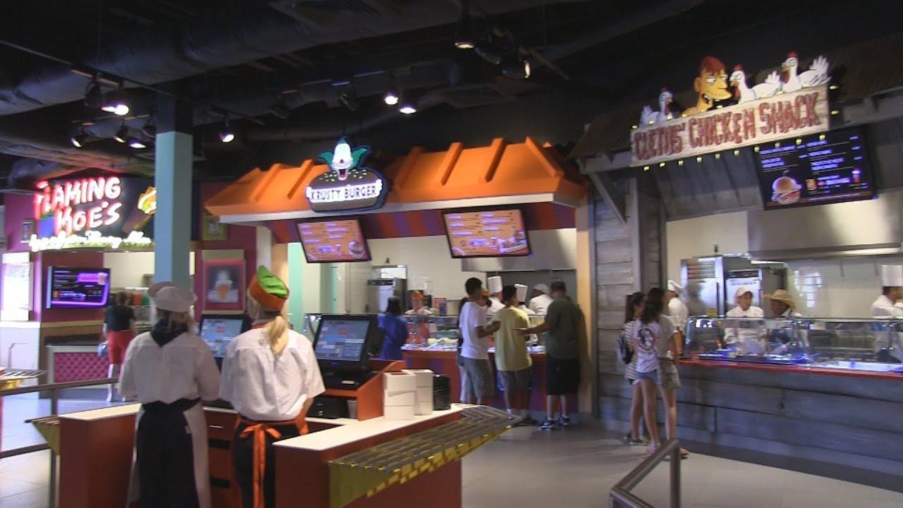 Inside Krusty Burger Moe S And More At Universal Studios