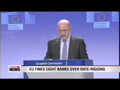 EU fines eight banks over rate-rigging