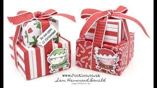 Santa's Workshop Mini Envelope Punch Board Stack