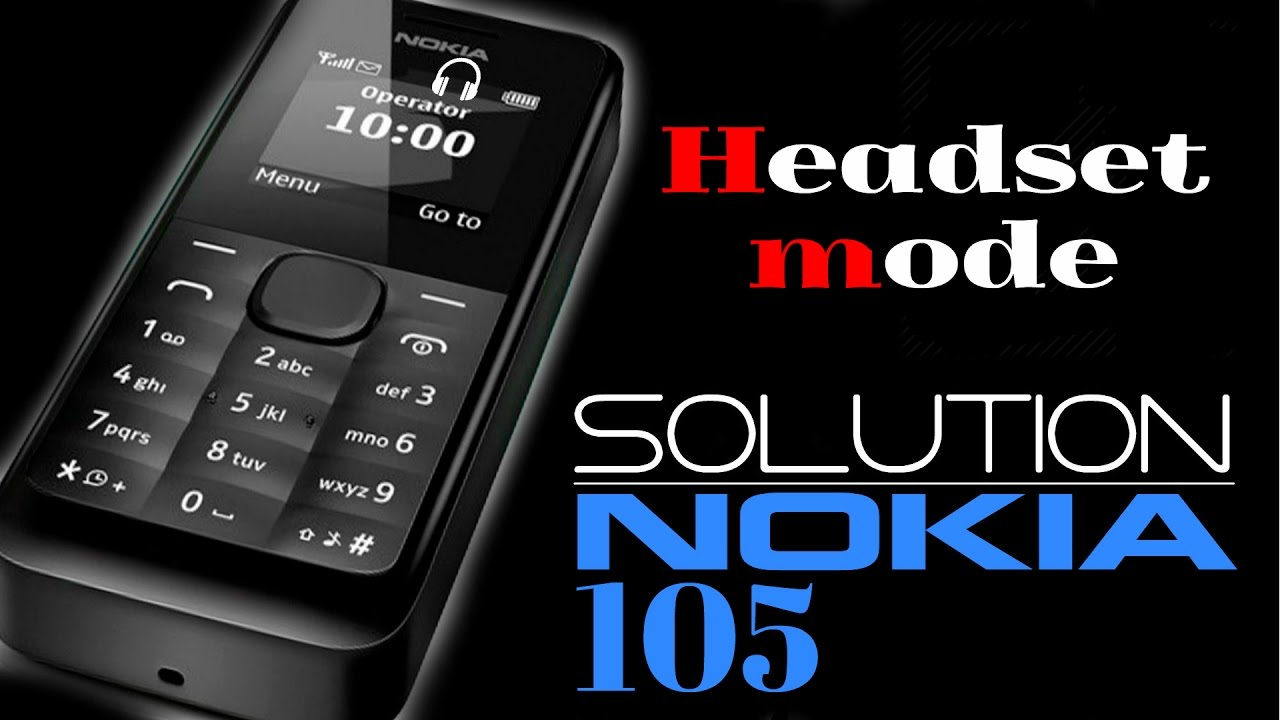 Nokia 105 Switch Off Headset Mode Solution Dual Sim Handphone Black