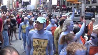 Body Painting in Times Square Part 2 filmed on Friday June 9 2017