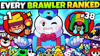Ranking All 41 Brawlers BEST to WORST in Brawl Stars! (Pro List)