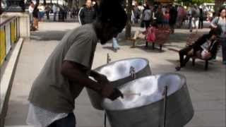 London Street Music from Steel Drums, Steel Pans. Caribbean Instrument