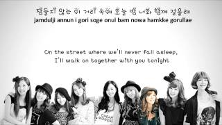 [Karaoke Instrumental w/ Backup Vocals] SNSD - Romantic Street [Eng+Rom+Han] HD