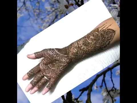 Mehndi Bunch On Arm : Mehndi designs for fingers and full hand using bunches of
