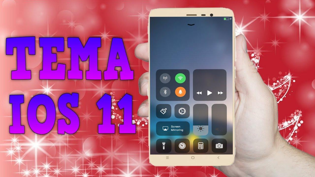 📱 THEME PURE IOS 11 - Xiaomi Redmi Note 4 MTK