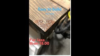 Amazingly easy to build $5.00 Scrap wood table
