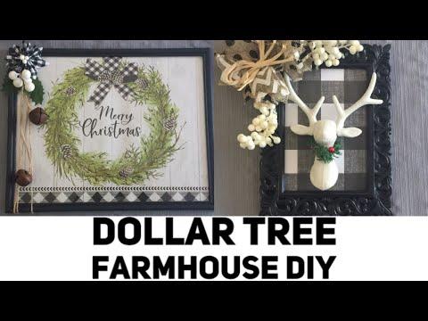 Dollar Tree DIY Buffalo Plaid, Farmhouse Christmas Display