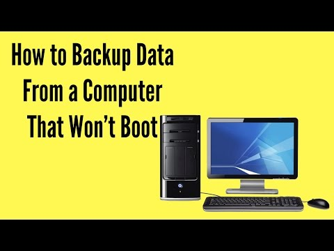 How to Back Up Data From a Computer That Won't Boot