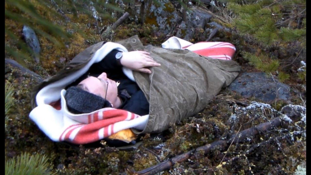 Soviet Poncho As A Sleeping Bag Overnight Youtube
